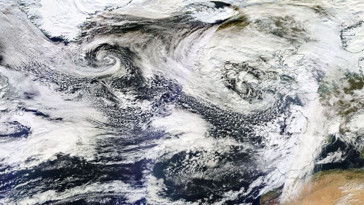 Series of kick-ass storms roar across Atlantic towards UK and FranceSatellite image showing a series of storms churning in the N. Atlantic Ocean. Image:  nasa  By Andrew Freedman2017-02-02 19:59:02 UTC  While this winter has been downright tame across large parts of the eastern U.S. the same cannot be said for much of Western Europe. Right now an extremely powerful jet stream is helping to spawn one massive North Atlantic storm after another bringing hurricane force winds to parts of the UK…