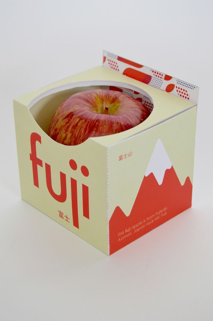 Fuji Apple Packaging on Behance                                                                                                                                                     More