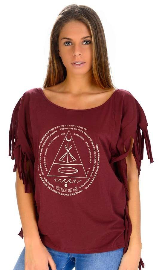 T-Shirt Fashion Ericeira Surf & Skate FUN FRANJAS Prune