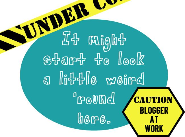 a little UNDER CONSTRUCTION design for bloggers in the process of making changes to their blog