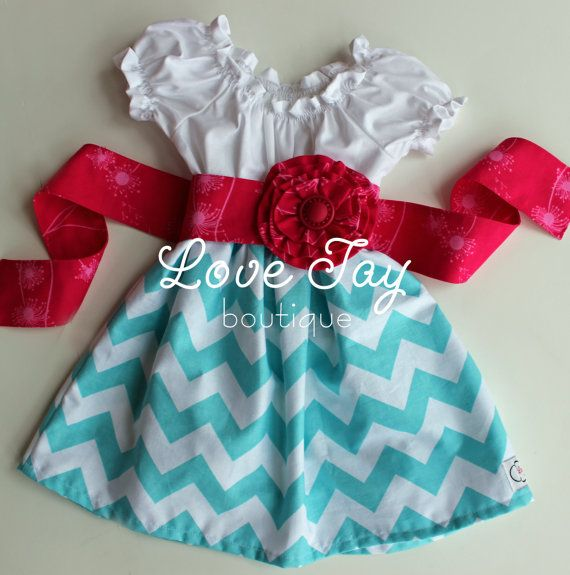 Girls Cheveron Peasant style dress You choose by LoveTayBoutique, $47.00
