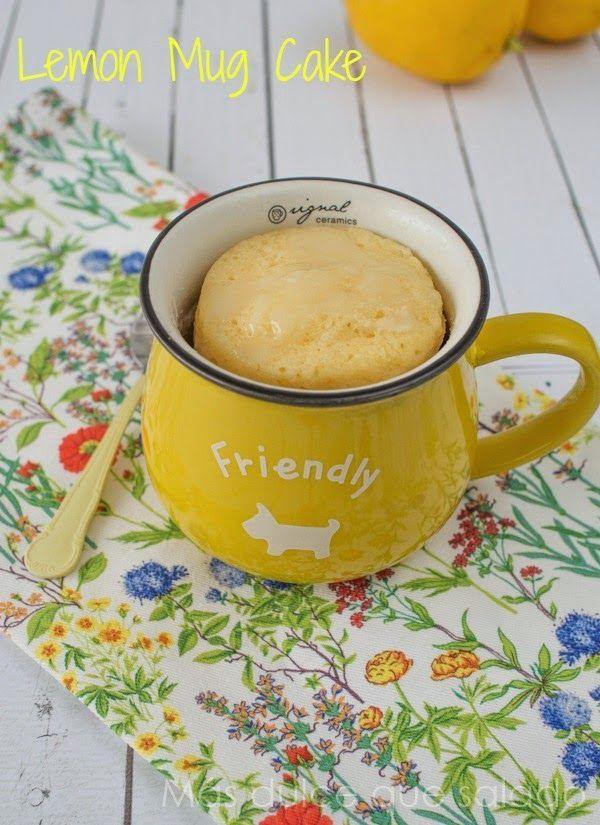 Más dulce que salado: Mug cake de limón