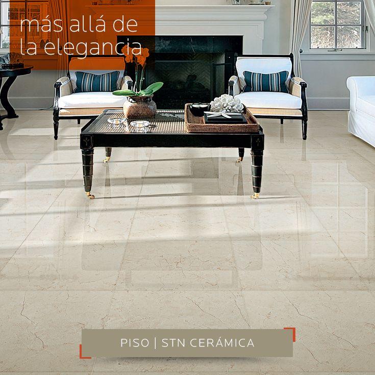 MÁS ALLA DE LA ELEGANCIA | Con este #piso porcelánico esmaltado Cantera Bone - STN Cerámica  60x60cm, también disponible en Cantera Marfil. Pregunta por más variedad en DECERAMICA.COM