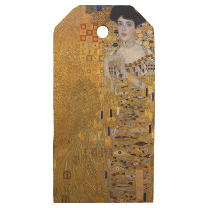Gustav Klimt - Adele Bloch-Bauer I Painting Wooden Gift Tags - glam gifts unique diy special glamour