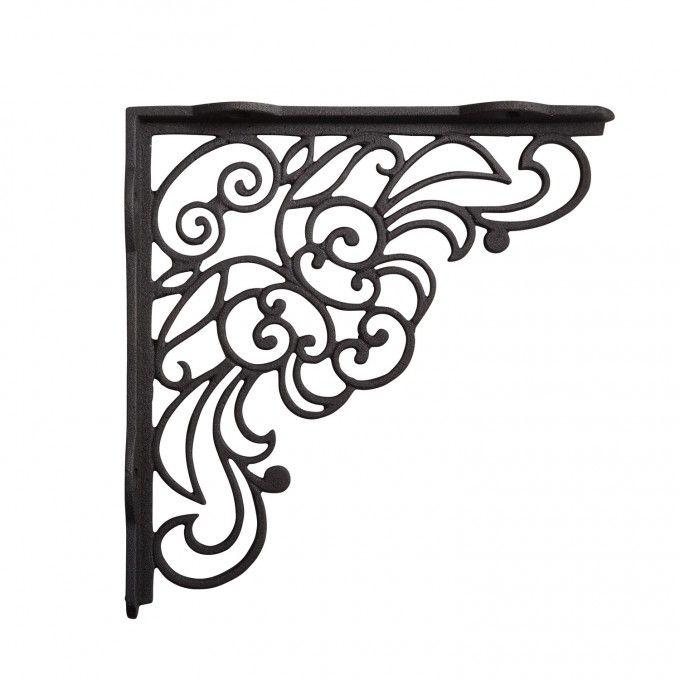 antique lace cast iron shelf bracket