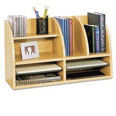 * Radius Front Organizer, Eight Sections, 25 7/8 x 9 5/8 x 15 1/4, Medium Oak **.  #MotivationUSA #Home