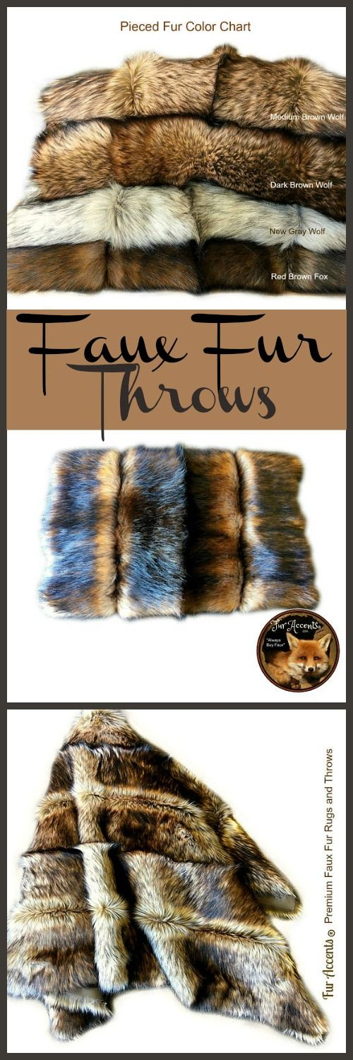 These faux fur throws look so warm.  Would love to have one.  #rustic #country #throws #bedroom #decor #etsy #ad