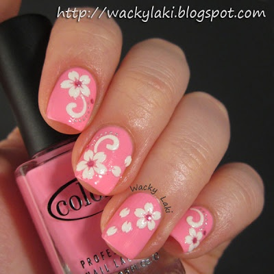 Color Club Flamingo with stickers: Nails Art, Beautiful Nails, Flowers Stickers, Pink Nails, Pretty Nails, Colors Club, Nails Hair, Club Flamingos, Fingernail Toenails