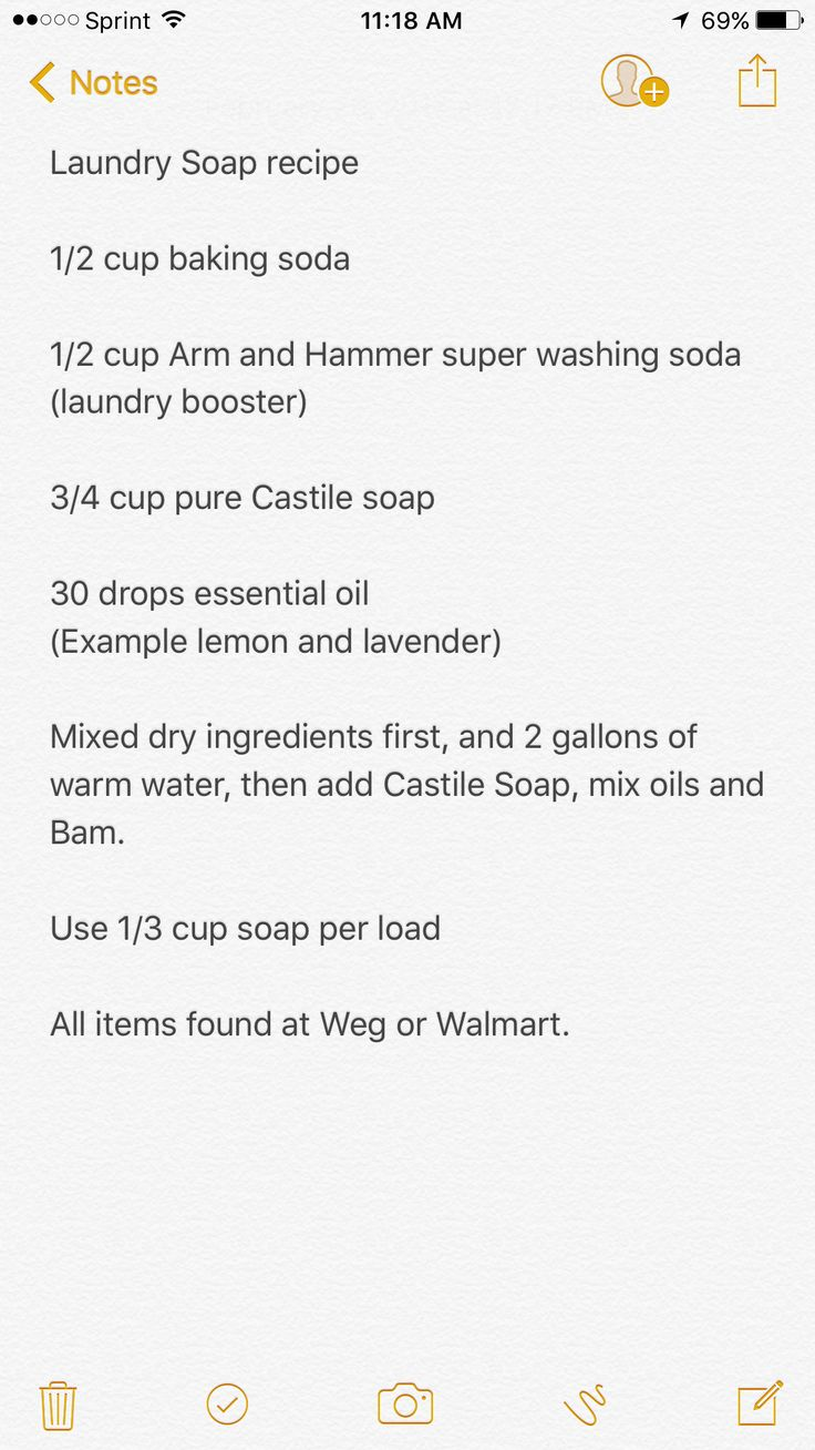 Laundry Soap Recipe 1 2 Cup Baking Soda 1 2 Cup Arm And Hammer