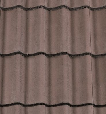 Low pitch Redland Grovebury roof tiles – Roofing Outlet. Tudor Brown colour. Can be used down to 15°