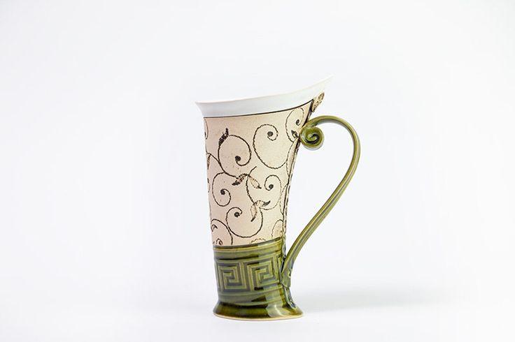 Ceramic Mug, Tea Mug,Handbuilding, Ceramics and pottery, Ceramic cup, Tea cup, Coffee cup, Coffee mug, Handmade mug, Unique mug, Green mug by StudioRosalina on Etsy https://www.etsy.com/listing/238328382/ceramic-mug-tea-mughandbuilding-ceramics