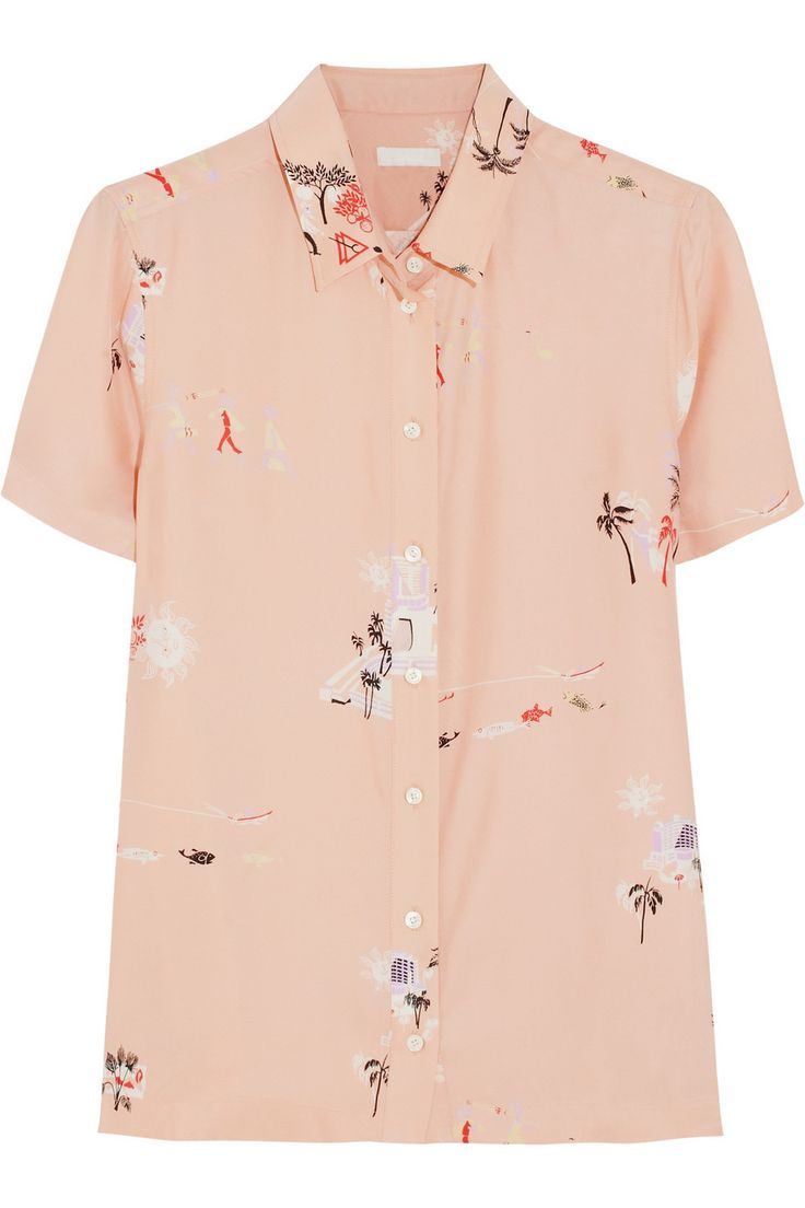J.Crew Vacationland printed silk shirt NET-A-PORTER.COM