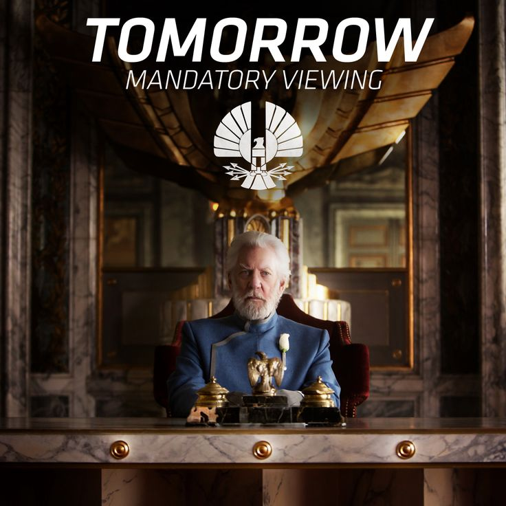 Stay tuned! Capitol TV brings you an important message from President Snow on Feb 16th.