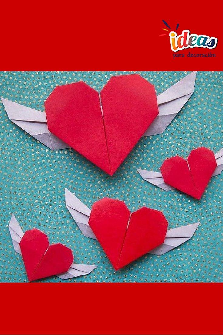 ¡Regala un corazón con alas de origami en este #SanValentín♥