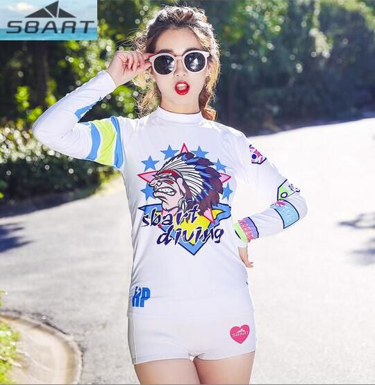 SBART Women T-Shirts Rash Guard Tops Water Sports Wetsuit Long Sleeves Snorkeling Diving Surfing Swimming Tight Swimsuit #Affiliate
