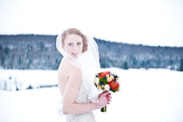 The Snowy Bride - AMBphoto, Anne-Marie Bouchard. Beautiful Wakefield, Quebec. Rivini by Rita Vinieris.