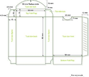Template For Bridge Size Tuck Box Playing Cards