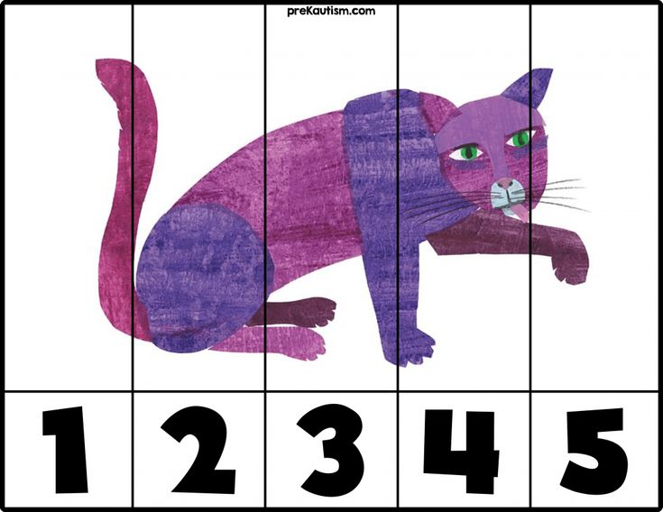 FREE! Brown Bear Number Puzzle