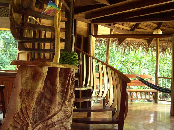 Beach house costa rica stairs mud and wood pinterest for Tree house for sale costa rica
