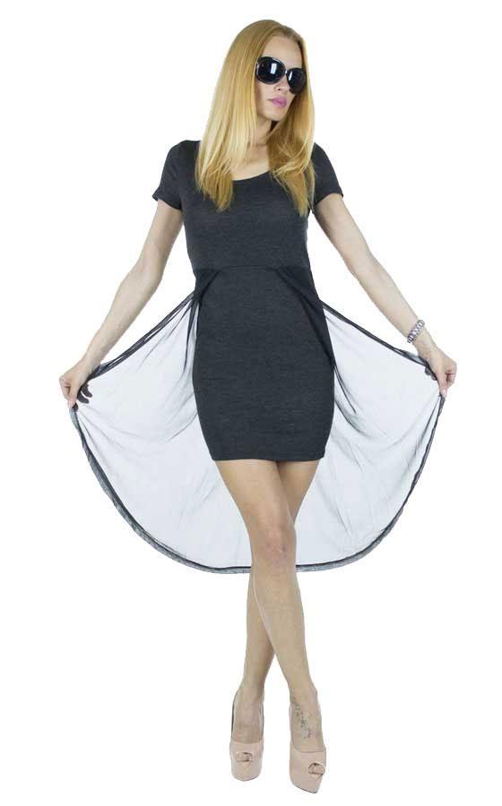 Rochie Dama Summer Sensation Black  Rochie dama extrem de senzuala. Model moden ce poate fi purtat cu usurinta la diferite evenimente.  Detaliu - plasa la spate.     Latime: 36cm  Lungime fata: 77cm  Lungime totala: 111cm  Compozitie: 80%Poliester, 20%Bumbac