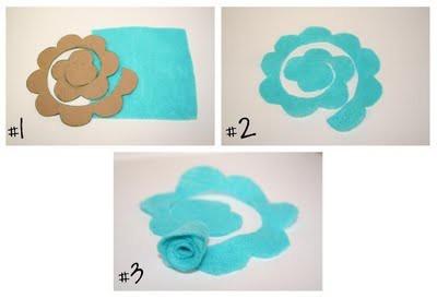 template for felt roses