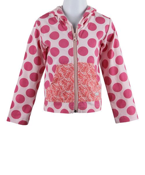Take a look at the Rosebud Polka Dot Zip-Up Hoodie - Infant on #zulily today!