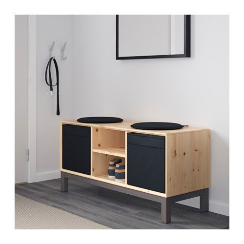 NORNÄS Bench with storage compartments  - IKEA - for shoe & bag storage in our living room?
