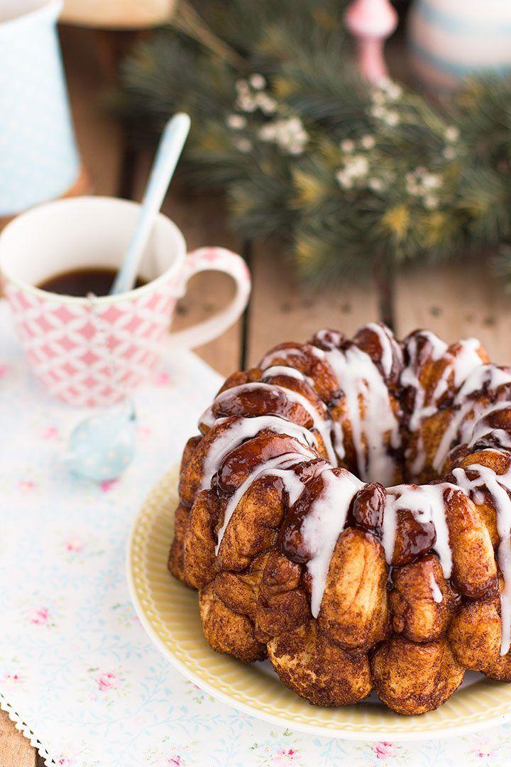 Aprende paso a paso como hacer un monkey bread o bollo de canela calentito. Es una delicia para la merienda y el desayuno.
