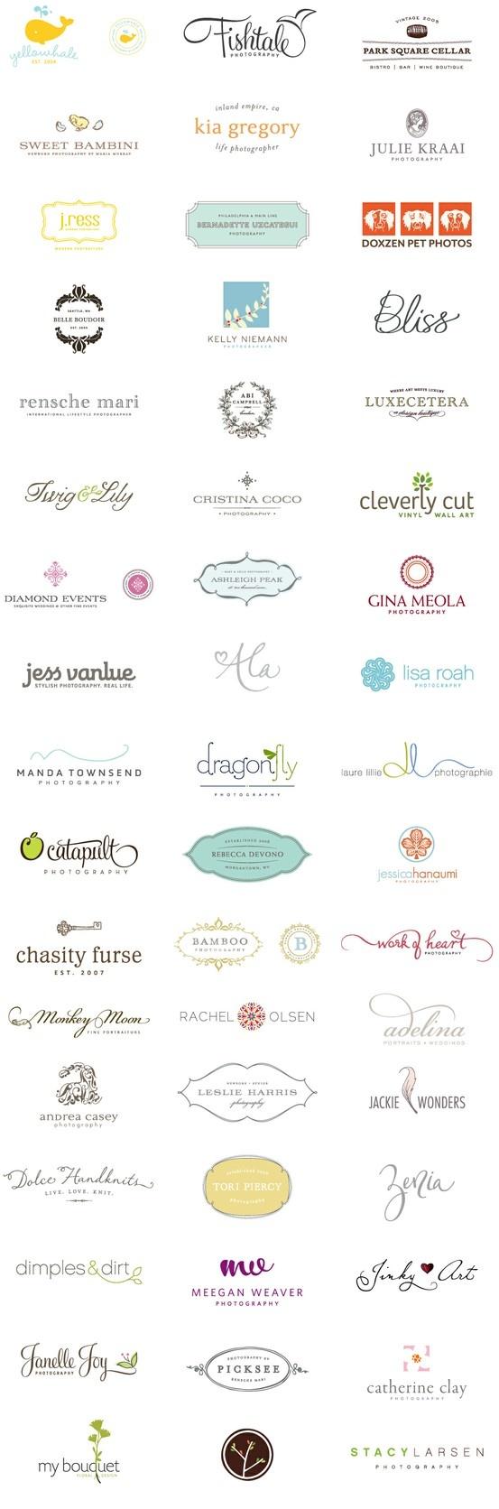 Simply Beautiful Logos.