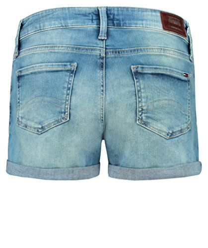 83c8a8bc57 Tommy Jeans Classic Denim Womens Shorts 26 inch Florida Light Blue Stretch