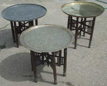 Brass tray tables