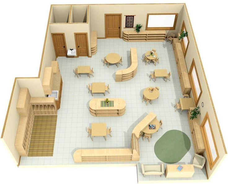 Free download of a Montessori classroom design.