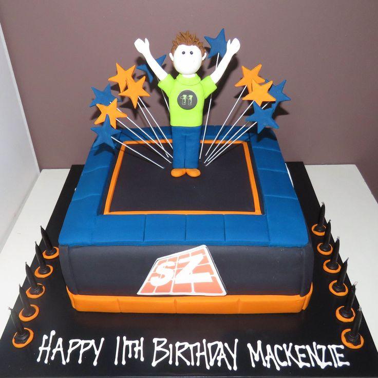 Trampoline cake - skyzone theme - That's My Cake
