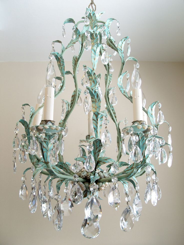 Water Sprite u2013 Crystal Chandelier Italian Vintage