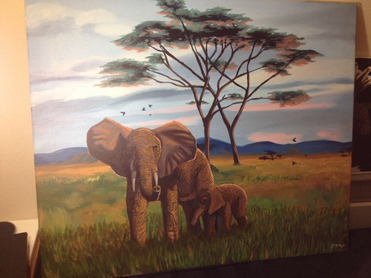 A personal favorite from my Etsy shop https://www.etsy.com/listing/255436104/elephant-safari