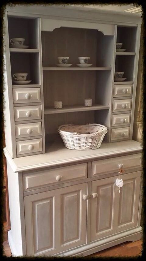 Chunky pine dresser painted in Everlong Lady Grey and Earl Grey