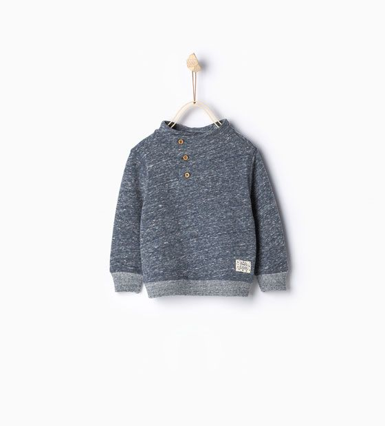 Image 1 of Sweatshirt with buttons and elbow patches from Zara