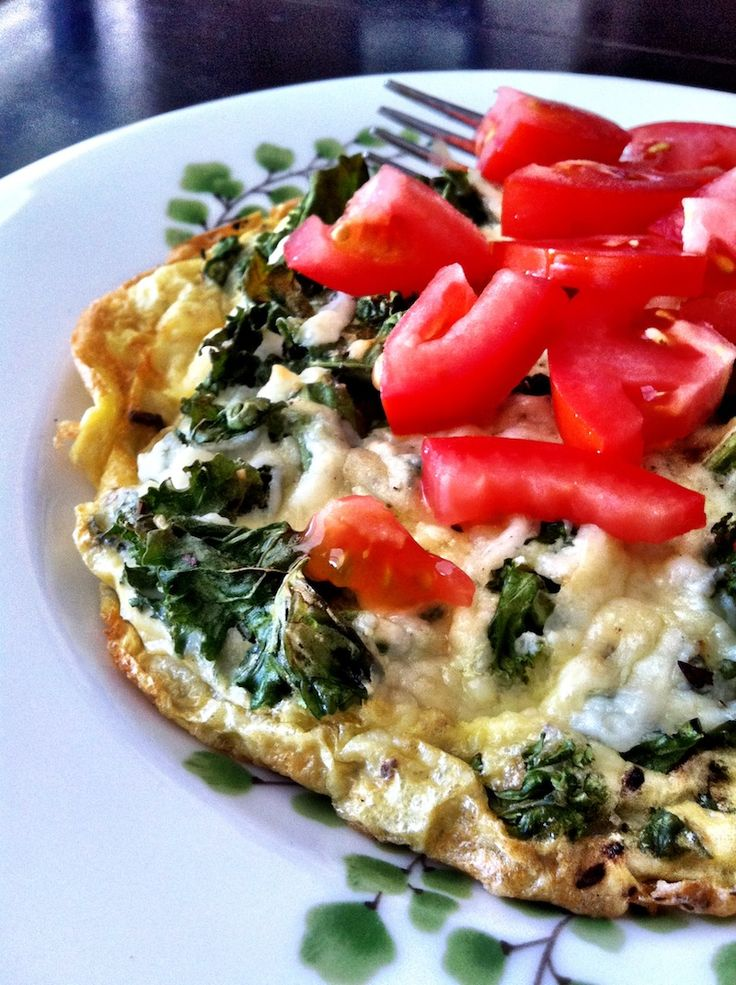 Kale and Parmesan Frittata with Tomatoes