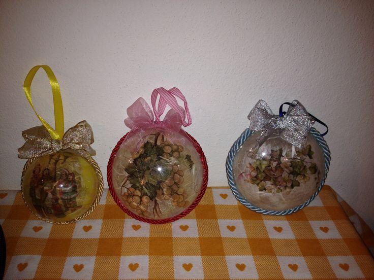Palline di natale in decoupage decorazioni di natale pinterest decoupage and natale - Pinterest natale ...