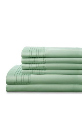 Elite Home Products  Lancaster 1000 Thread Count Sheet Set - Wintermint - Queen