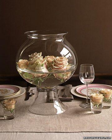 112 best images about simple elegant centerpieces on pinterest colorful wedding centerpieces - Deco table rose ...