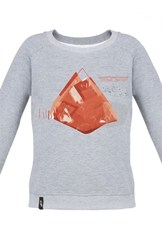 MATRYOSHKA DIAMOND ROCK RED Very feminine sweatshirt made of high quality fabric in heather gray. Beautifully finished, with a fashionable cut, specially designed with comfort in mind. Composition: 90% cotton, 10% polyester. Durable print, made digitally. Graphics created specifically for the Limited Edition by a talented Polish graphic designer hi.goszi, realizing many amazing projects in Poland and abroad. Series by  hi.goszi was inspired by the atmosphere of mountains. #meetthellama…