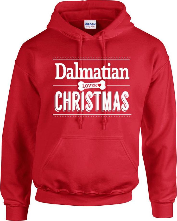 Dalmatian lover loves Christmas hoodies hooded sweatshirt, Dalmatian dog lover, christmas gift, pet lover, gift for brother, gift for sister by RingAndDonut on Etsy