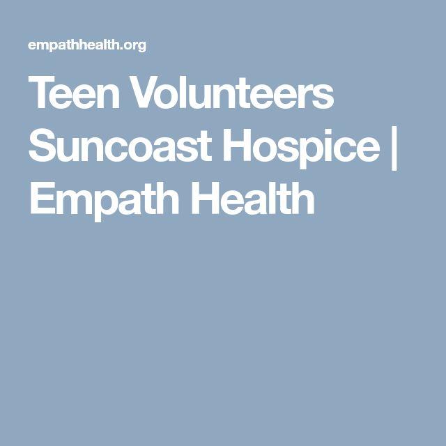 Teen Volunteers Suncoast Hospice | Empath Health