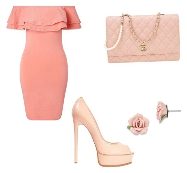 """""""Untitled #54"""" by anais-maria on Polyvore featuring Miss Selfridge, Casadei, Chanel and 1928"""