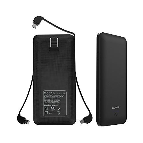 WOBON 10000mAh Portable Charger Compact Power Bank External Battery Pack Ultra Slim and Light Battery Charger with Built-in AC Plug and Micro USB Type-c Lightning Cable for iphone, Android and More  https://topcellulardeals.com/product/wobon-10000mah-portable-charger-compact-power-bank-external-battery-pack-ultra-slim-and-light-battery-charger-with-built-in-ac-plug-and-micro-usb-type-c-lightning-cable-for-iphone-android-and-more/  【User-friendly Design】: WOBON Portable Ch