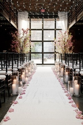 I like the idea of the candles :) good backup plan if the ceremony is inside