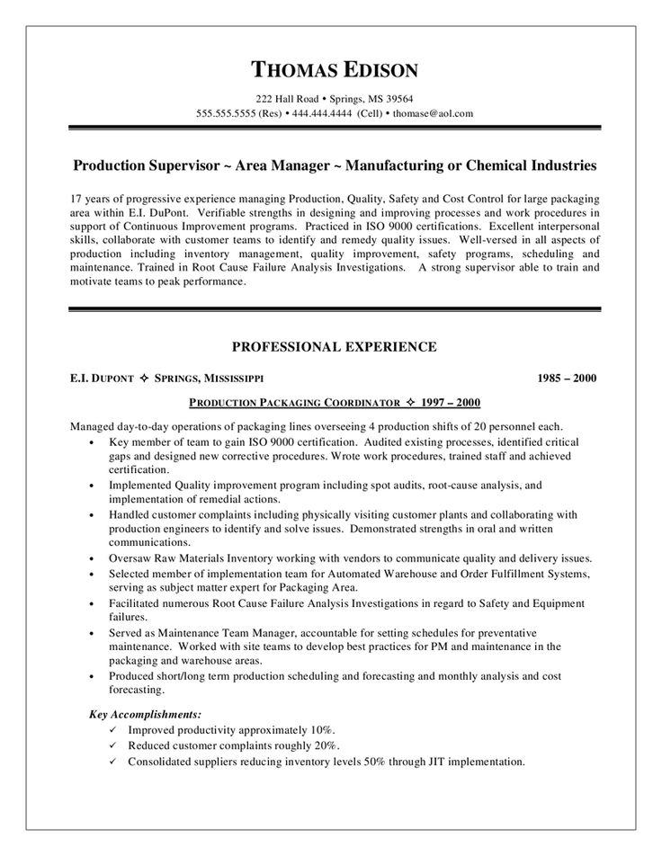 36 best resumes images on Pinterest Resume tips, Resume help and - sample mechanical assembler resume