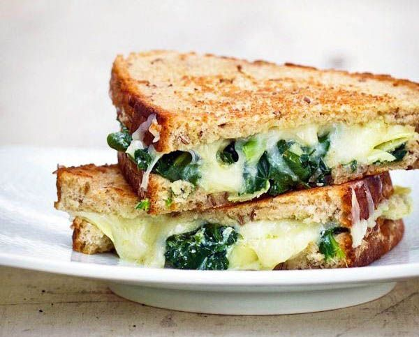 spinach artichOke grilled cheese]