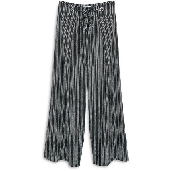 MANGO Palazzo Trousers ($40) ❤ liked on Polyvore featuring pants, palazzo trousers, zipper pants, zipper trousers, mango trousers and zip pants